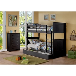 LYKE Home Shae Wood Twin/Twin Bunkbed with Storage