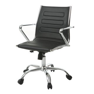 Highbore Faux Leather and Steel Office Chair