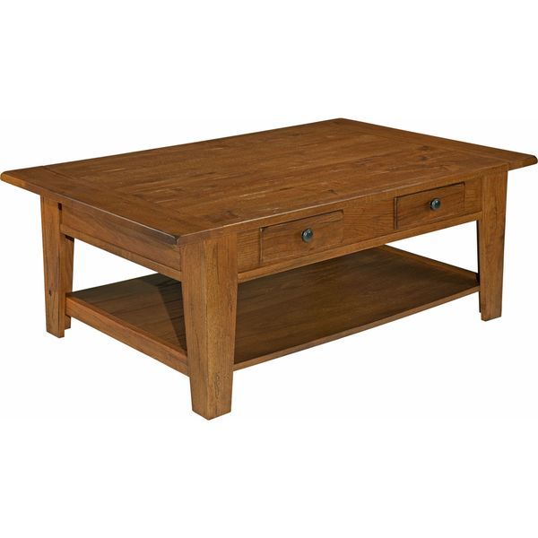 Lovely Broyhill Attic Heirlooms Brown Wood Rectangular Cocktail Table