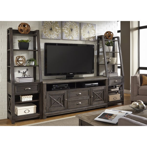 Heatherbrook Charcoal and Ash Entertainment Center