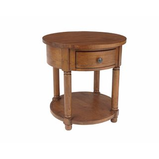 Broyhill Attic Heirlooms Brown Wood Round End Table