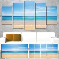 Wide Blue Sky Over Beach - Seashore Photo Canvas Print