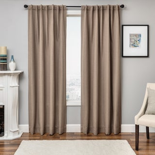 "Link to Solara Faux Linen Blackout Curtain Panel 96"" in Linen (As Is Item) Similar Items in As Is"