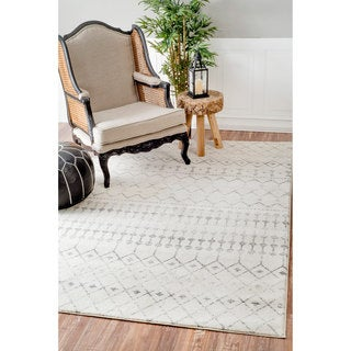 nuLOOM Geometric Moroccan Beads Grey Rug (9' x 12') (As Is Item)