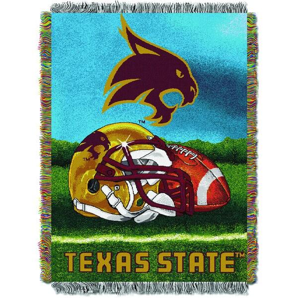 The Northwest Co. COL 051 Texas State HFA Throw Blanket