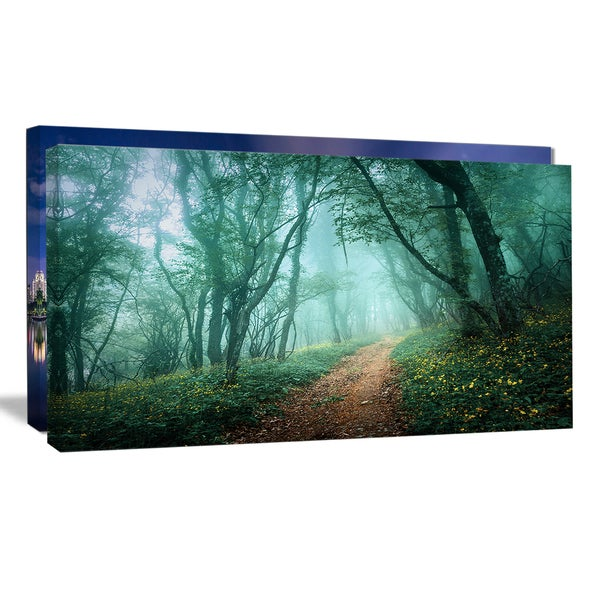 Light Green Mystical Fall Forest - Landscape Photography Wall Art