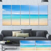 Bright Blue Tropical Beach - Seashore Photo Canvas Art Print