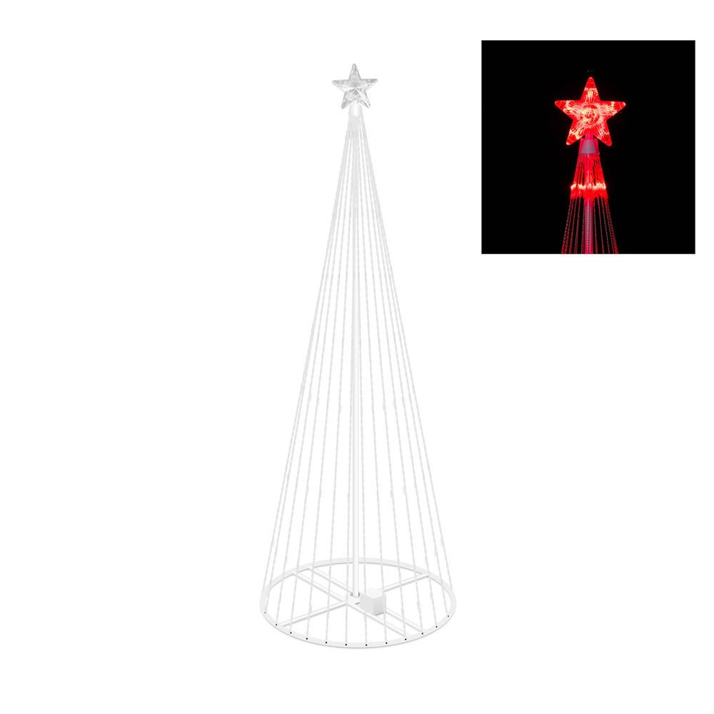 Vickerman Red Plastic 4-foot Christmas Show Tree with 152...