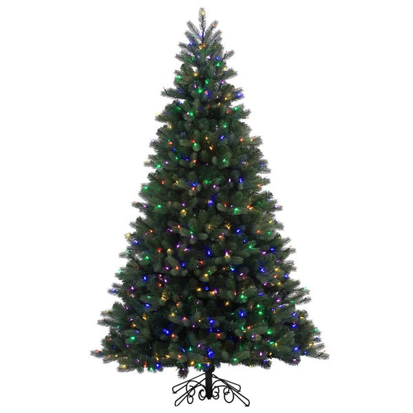 Shop Vickerman Green Plastic 7.5-foot Noble Spruce Instant ...