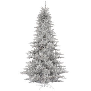 Vickerman Silver Plastic 3-foot Silver Tinsel Fir Unlit Artificial Christmas Tree