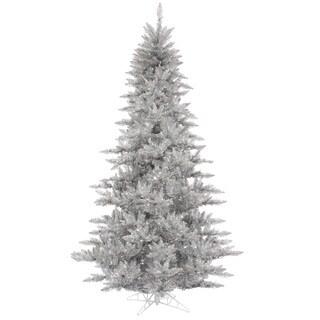 Vickerman Silver Plastic 3-foot Silver Tinsel Fir Unlit Artificial Christmas Tree