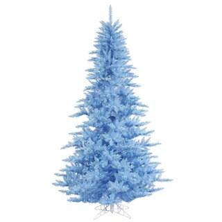 Vickerman Sky Blue PVC 3-foot Artificial Fir Christmas Tree with 100 Sky Blue LED Lights