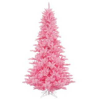 Vickerman Pink Plastic 3-foot Fir Artificial Christmas Tree with 100 Pink LED Lights