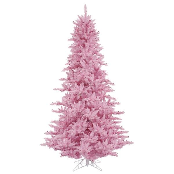 Vickerman Pink Pvc 3 Foot Unlit Artificial Fir Christmas Tree