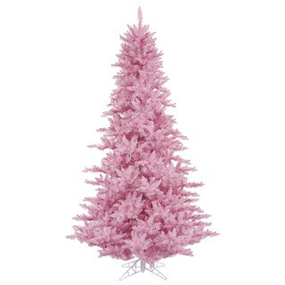 Vickerman Pink PVC 3-foot Unlit Artificial Fir Christmas Tree