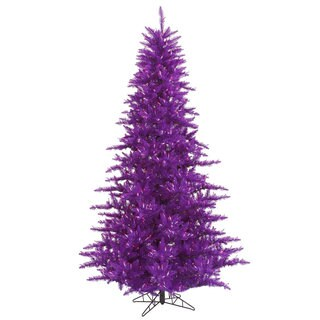 Vickerman Purple PVC 3-foot Fir Artificial Christmas Tree with 100 Purple LED Lights
