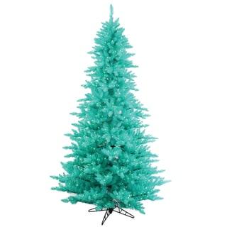 Vickerman Aqua Plastic 3-foot Fir Artificial Christmas Tree with 100 Aqua LED Lights