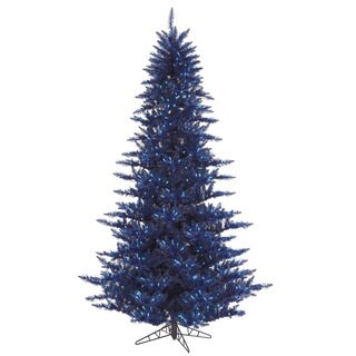 Vickerman Navy Blue Fir 3-foot Artificial Christmas Tree with 100 LED Lights