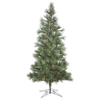 Vickerman Green Plastic Hard Needle 7.5-foot Redmond Spruce Artificial Christmas Tree with 350 Warm White LED Lights