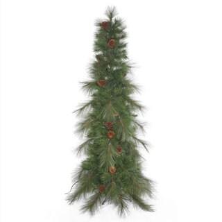 Vickerman Green Plastic 7.5-foot Big Cascade Pine Unlit Artificial Christmas Tree