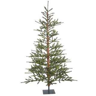 Vickerman Green Plastic 7-foot Bed Rock Pine Unlit Artificial Christmas Tree