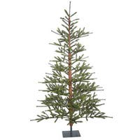 Vickerman Green Plastic 7-foot Bed Rock Pine Unlit Artificial Christmas Tree