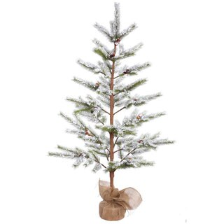 Vickerman Flocked Desert Pine 5-foot Unlit Artificial Christmas Tree