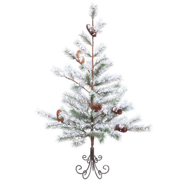 Shop Vickerman Flocked Whitegreen Pvc 3 Foot Desert Pine Unlit
