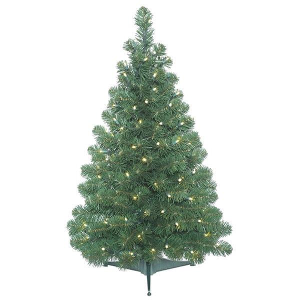 Lead Free Christmas Trees: Shop Vickerman Green Plastic 3-foot Oregon Fir Artificial