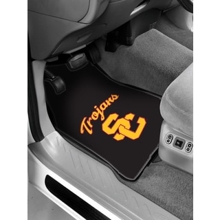 COL 343 University of Southern California Multicolor Debossed Rubber Car Front Floor Mat