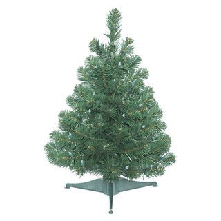 Vickerman Green Plastic 26-inch Oregon Fir Unlit Artificial Christmas Tree