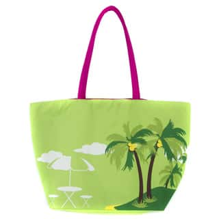 Leisureland Large Palm Printed Beach Tote Bag|https://ak1.ostkcdn.com/images/products/12111397/P18972527.jpg?impolicy=medium