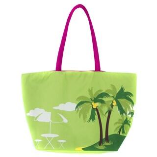 Leisureland Large Palm Printed Beach Tote Bag