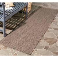 Safavieh Indoor/ Outdoor Courtyard Brown/ Beige Rug - 2'3 x 12'