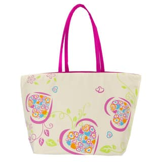 Leisureland Large Heart Printed Beach Tote Bag|https://ak1.ostkcdn.com/images/products/12111410/P18972528.jpg?impolicy=medium