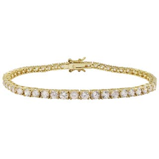 Luxiro Gold Finish Sterling Silver 3-mm Round Cubic Zirconia Tennis Bracelet - White https://ak1.ostkcdn.com/images/products/12111437/P18972537.jpg?impolicy=medium