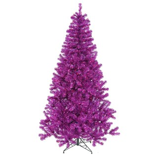 Vickerman Purple PVC 3-foot Artificial Christmas Tree with 50 Purple Lights