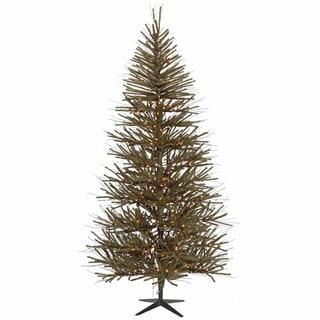 Vickerman Green and Brown PVC 4-foot Vienna Twig Artificial Christmas Tree Unlit