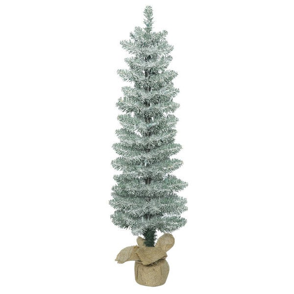 Vickerman Frosted Green PVC 3-foot Pole Pine Unlit Artificial ...