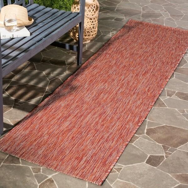Safavieh Indoor/ Outdoor Courtyard Red/ Red Rug - 2' 3 x 8'