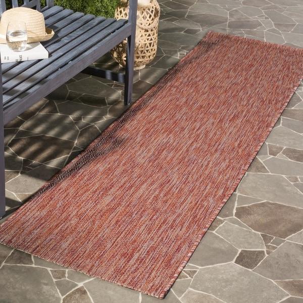 Safavieh Indoor/ Outdoor Courtyard Red/ Red Rug (2' 3 x 8')