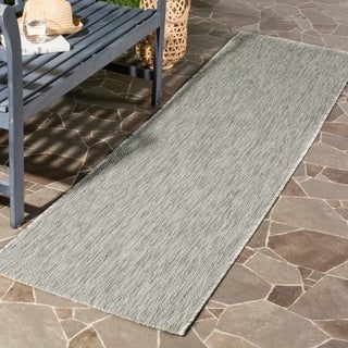 Safavieh Indoor/ Outdoor Courtyard Grey/ Grey Rug (2' 3 x 12')