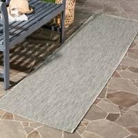 Safavieh Indoor/ Outdoor Courtyard Grey/ Grey Rug - 2' 3 x 12'
