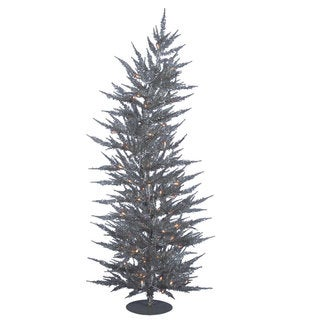 Vickerman Silver Laser 3-foot Artificial Christmas Tree with 50 Warm White LED Lights
