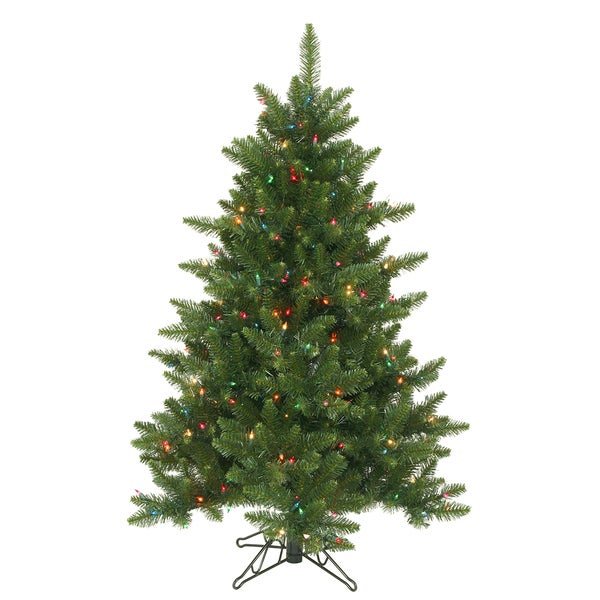 Lead Free Christmas Trees: Shop Vickerman Green Plastic 4.5-foot Camdon Fir