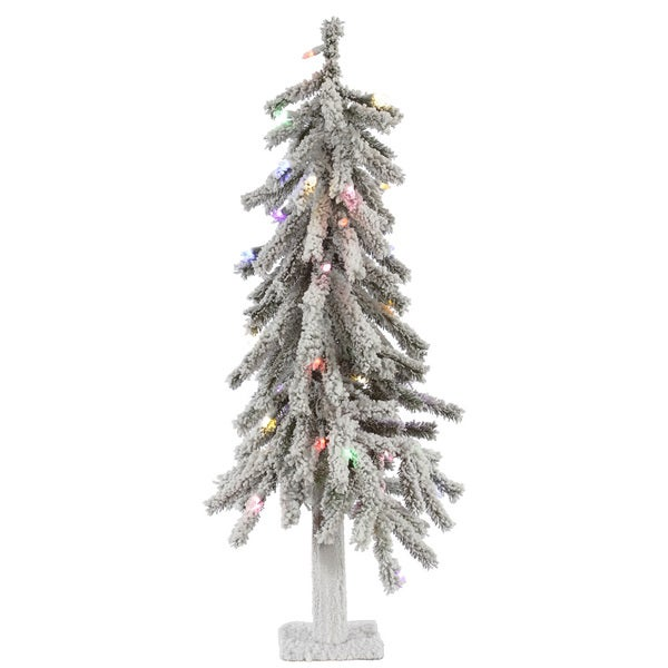 50 Foot Christmas Tree: Shop Vickerman Flocked White-on-Green PVC 3-foot Alpine