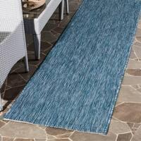 Safavieh Indoor/ Outdoor Courtyard Navy/ Navy Rug (2' 3 x 12')