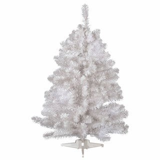 Vickerman Crystal White Plastic 3-foot Spruce Unlit Artificial Christmas Tree