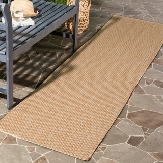 Safavieh Indoor/ Outdoor Courtyard Natural/ Cream Rug (2' 3 x 12')
