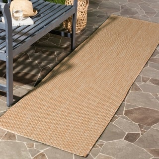 Safavieh Indoor/ Outdoor Courtyard Natural/ Cream Rug - 2'3 x 8'